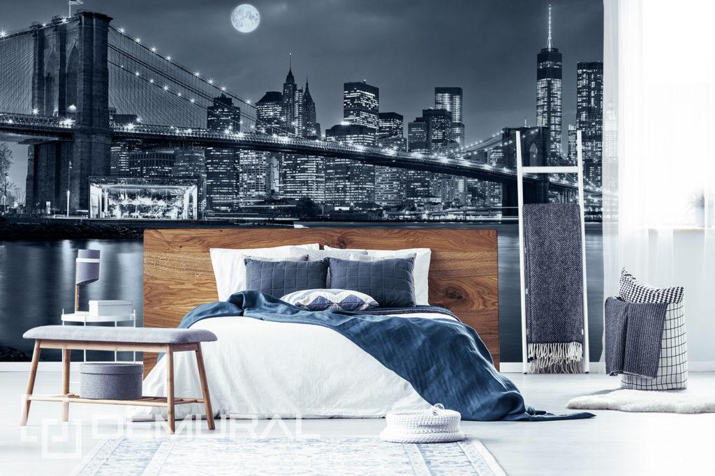 Fototapeta Miasto Nocą - Motyw miasta na ścianie - Demural