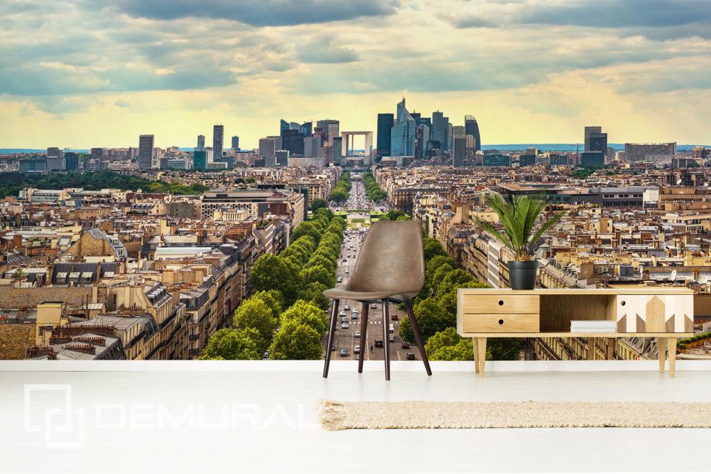 Fototapeta słoneczne miasto - Motyw miasta na ścianie - Demural