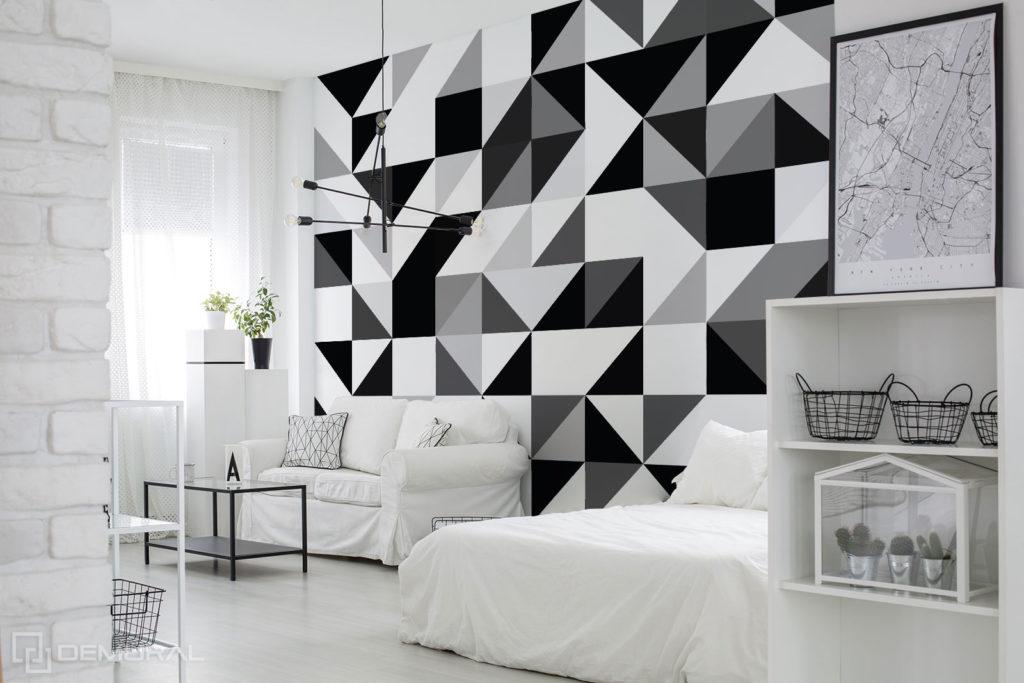 Fototapeta Czarno Białe Kształty - Fototapety geometryczne - Demural