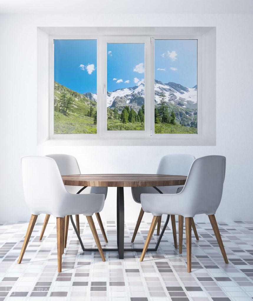 Fototapeta W górskim Domku - Fototapeta widok z okna - Demural