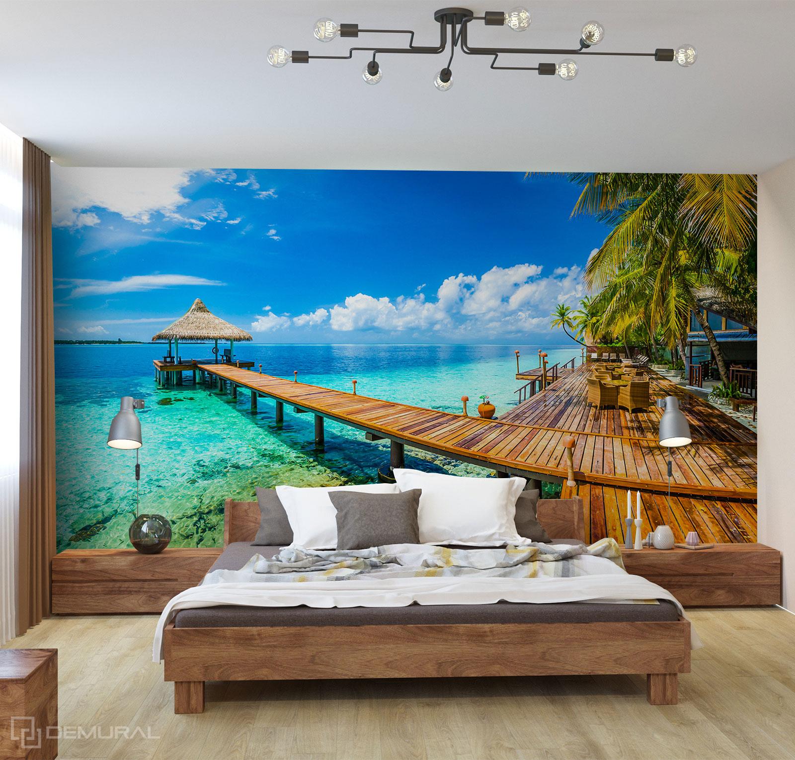 Fototapeta Prywatne Malediwy - Fototapeta z plażą - Demural