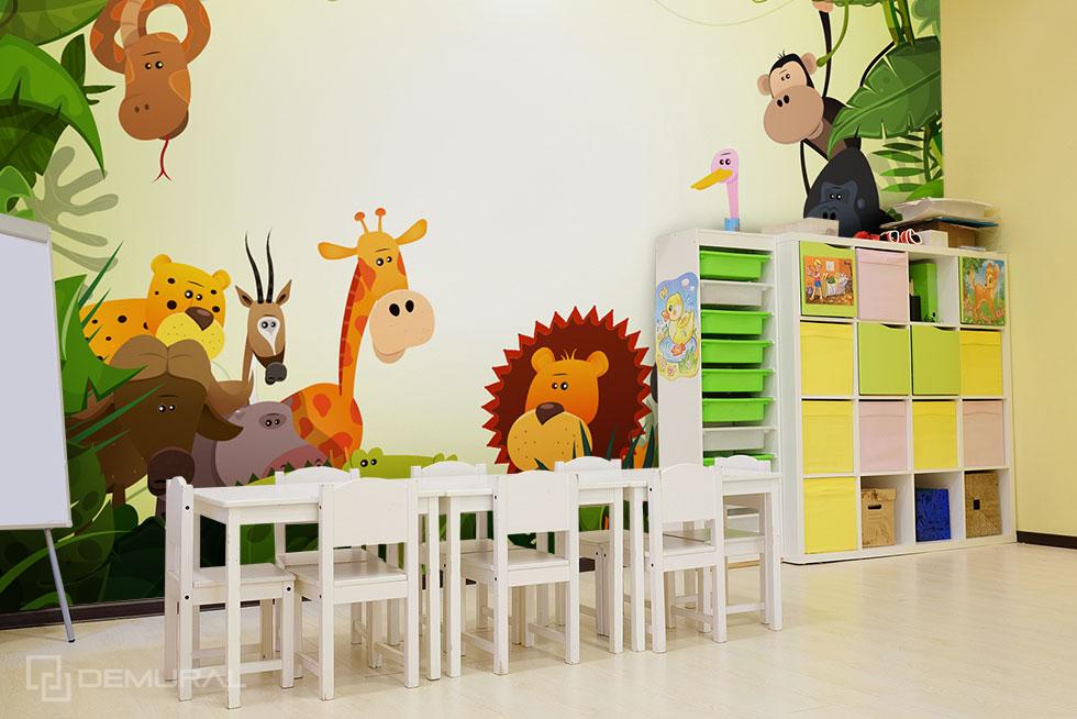 Fototapeta Przygoda w dżungli - Fototapeta do przedszkola - Demural