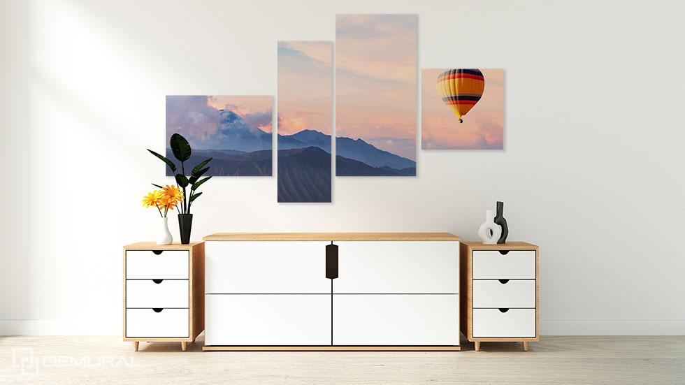 Obraz Balonem przez świat - Obrazy do salonu - Demural