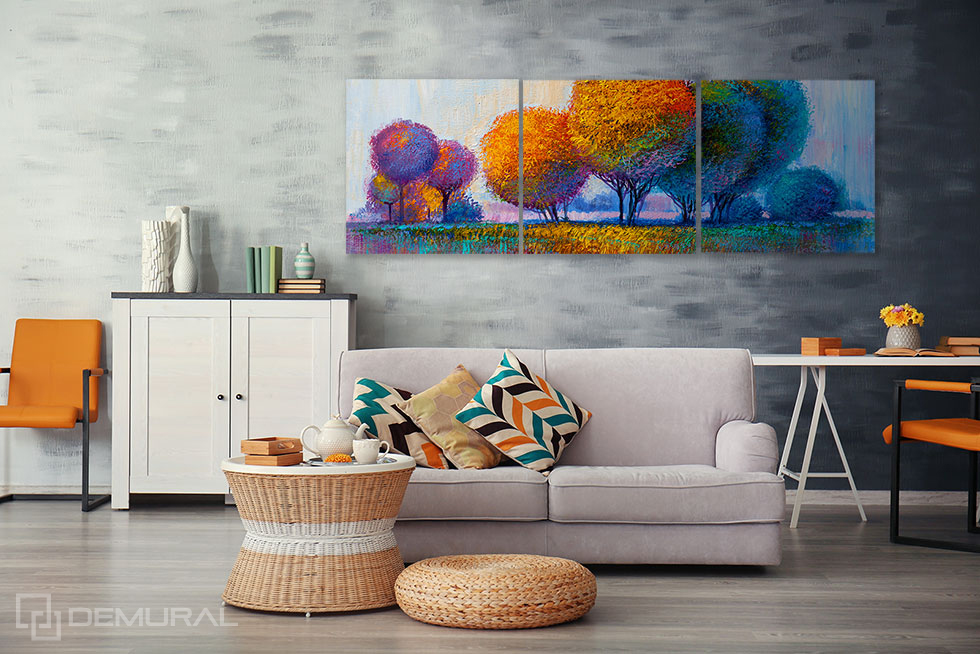 Obraz Olejny zagajnik - Obrazy do salonu - Demural