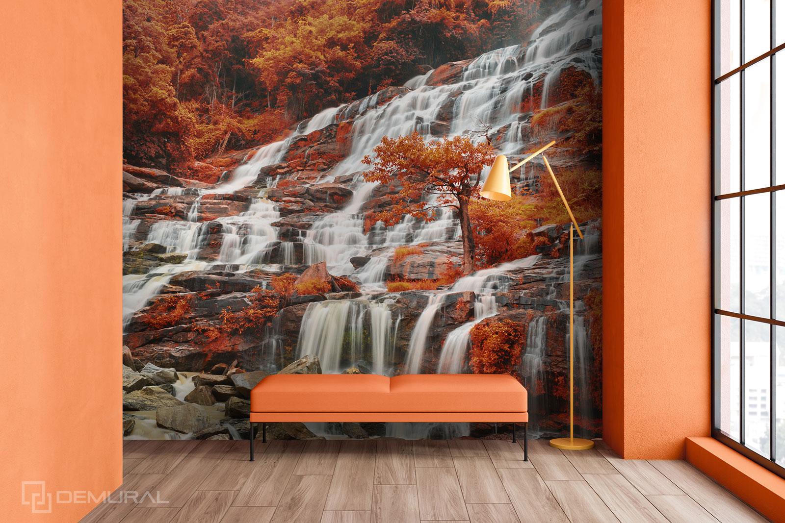 Fototapeta Jesienny wodospad - Fototapety z wodospadem - Demural