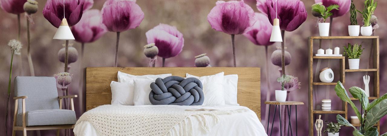 Fototapeta kwiaty - Demural