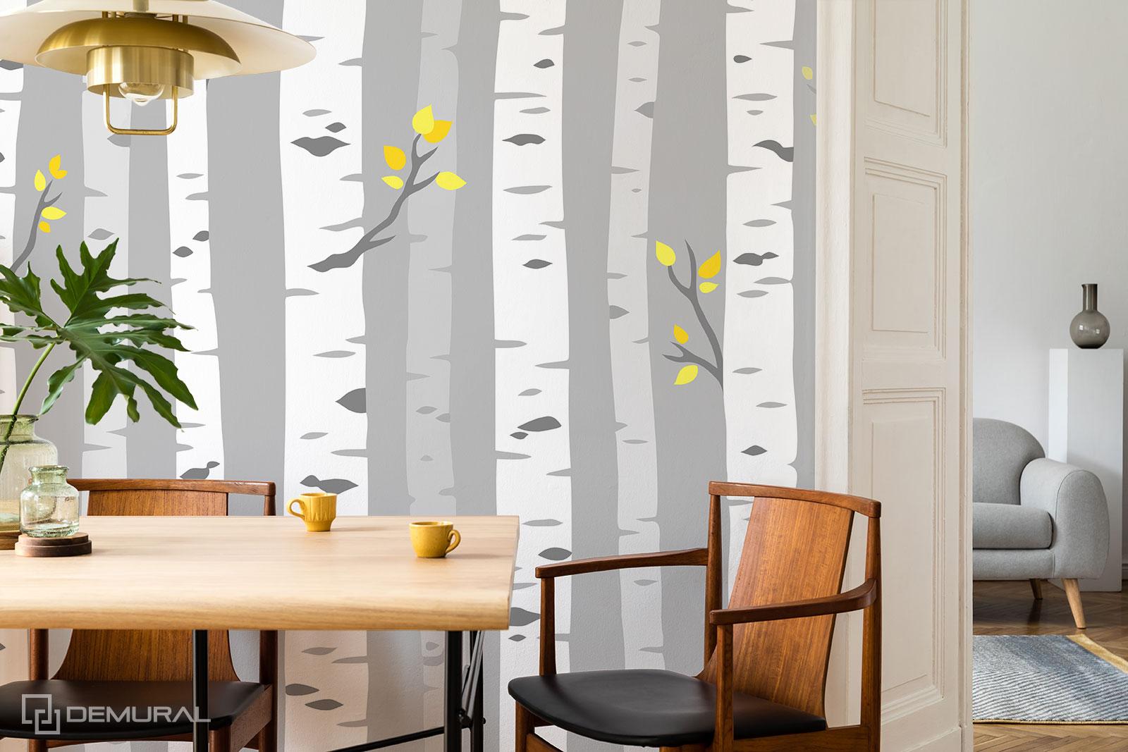 Fototapeta Śniadanie w lesie - Fototapety brzozy - Demural