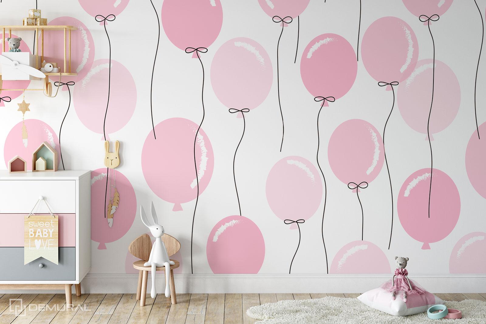 Fototapeta Delikatne baloniki - Fototapeta dla dziewczynki - Demural