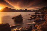 Sunset at the Elgol beach
