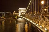 Chains Bridge in Budapest (Hungary)