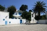 Typical view of Sidi Bou Said streets, Tunisia, North-Africa