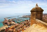 Old castle over Port  in Alicante