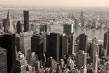 Skyline of Manhattan - sepia image