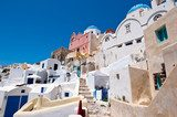 Oia cityscape with cave houses. Thera (Santorini), Greece.