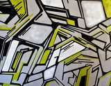 abstract graffiti detail