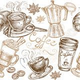 seamless pattern coffee