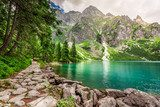 Beautiful mountains pond at summer, Poland
