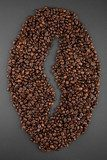 coffee beans as a symbol of one a saturated