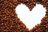 coffee beans heart isolated