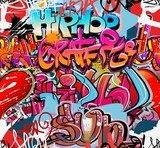 Hip hop graffiti urban art background