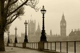 Big Ben & Houses of Parliament, London in fog