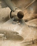 Retro aviation, vintage background
