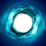 abstract circular blue background with white hole