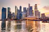 Singapore at sunset