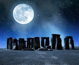 Historical monument Stonehenge in night,England, UK