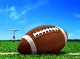 Football Ball on Grass under Blue Sky