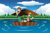 Kids fishing together