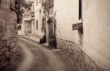 Retro photo of   mediterranean town
