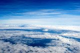 background of clouds. view from the airplane
