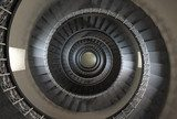 10'th floor of vintage spiral staircase