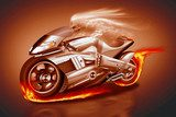 Ghostrider mit Superbike
