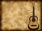 Acoustic guitar on background