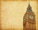 Big Ben - Upper portion of the tower, London, UK.