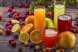 Antioxidant juices of citrus, apple, plum and blackberry