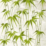 Bamboo with leaves pattern.