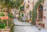 Alley in old town Tuscany Italy