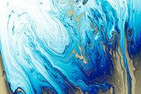Blue Liquid marble abstract surfaces Design.
