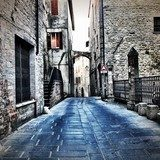 old town street in Todi Italy