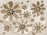 Sepia Flower Art Illustration