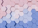 Serenity Blue and Rose Quartz  abstract 3d hexagon background