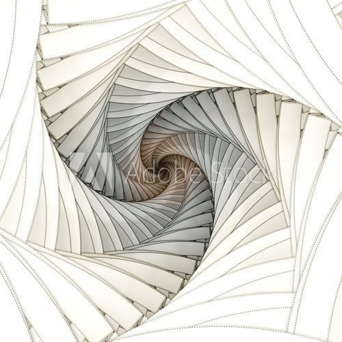 Abstract fractal spiral on the white background