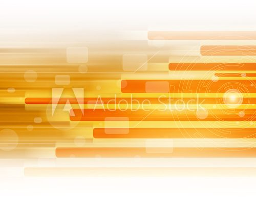 Orange Abstract  Technology Background