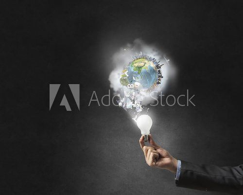 Bright idea for success achieving