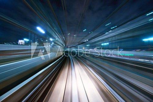 Motion Blur from a Tokyo Monorail