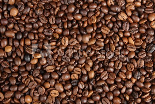 Background of the roasted coffee.