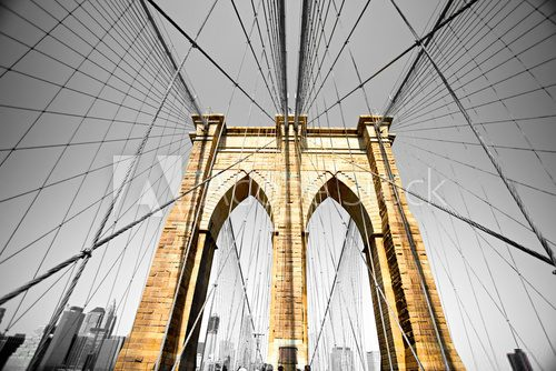 The Brooklyn bridge, New York City. USA.